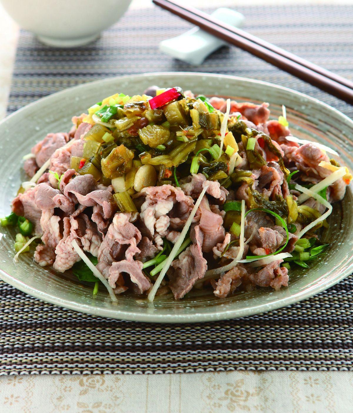 食譜:豆伴酸菜拌羊肉
