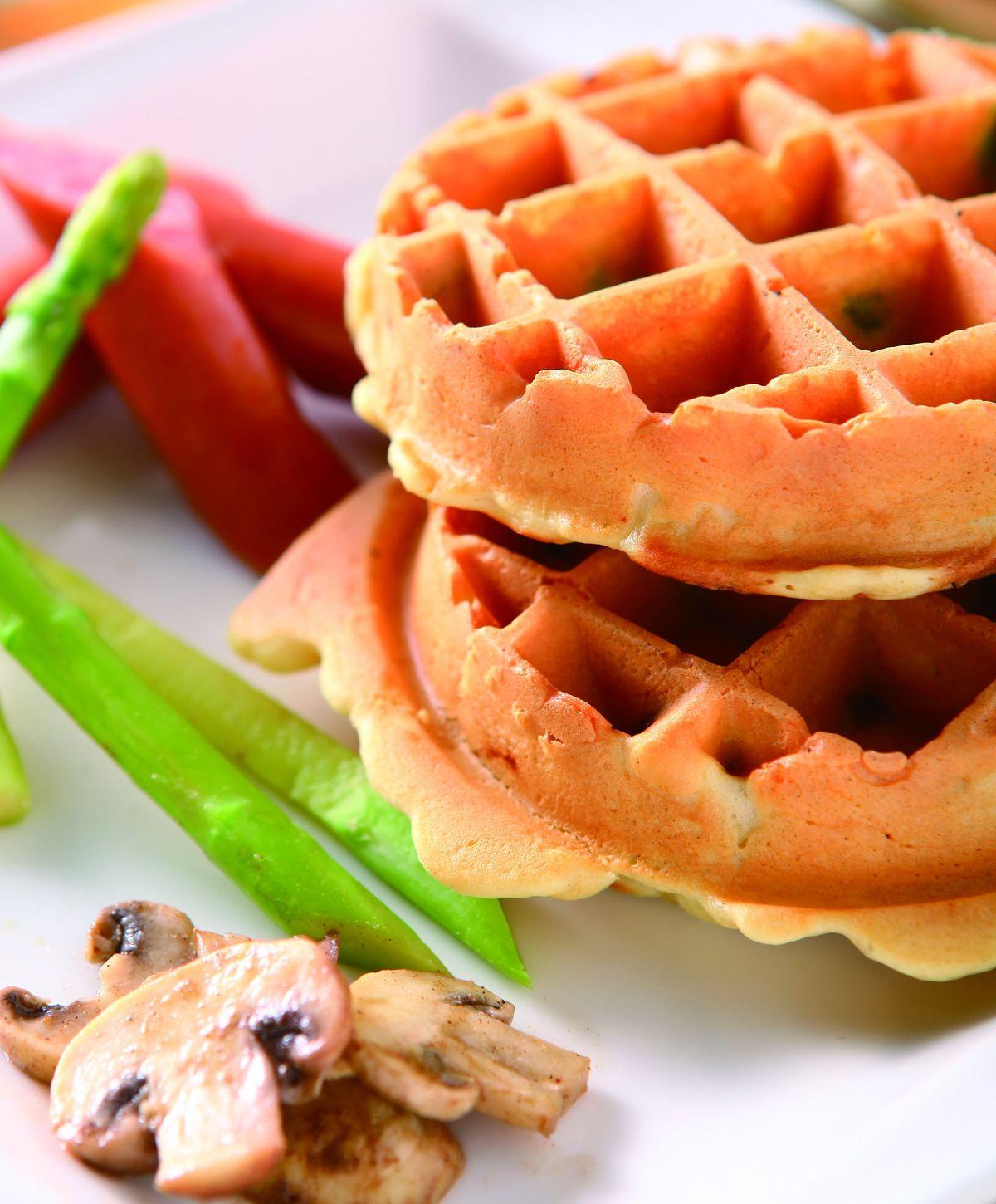 食譜:德式香腸鬆餅