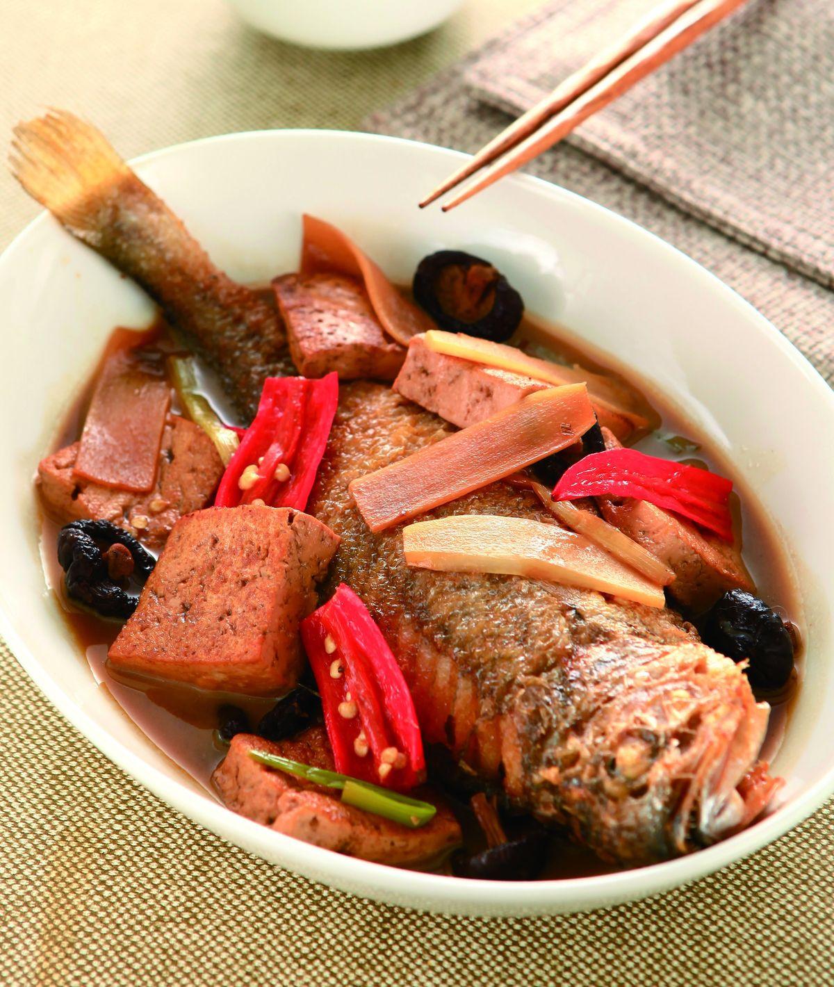 食譜:豆腐燒黃魚