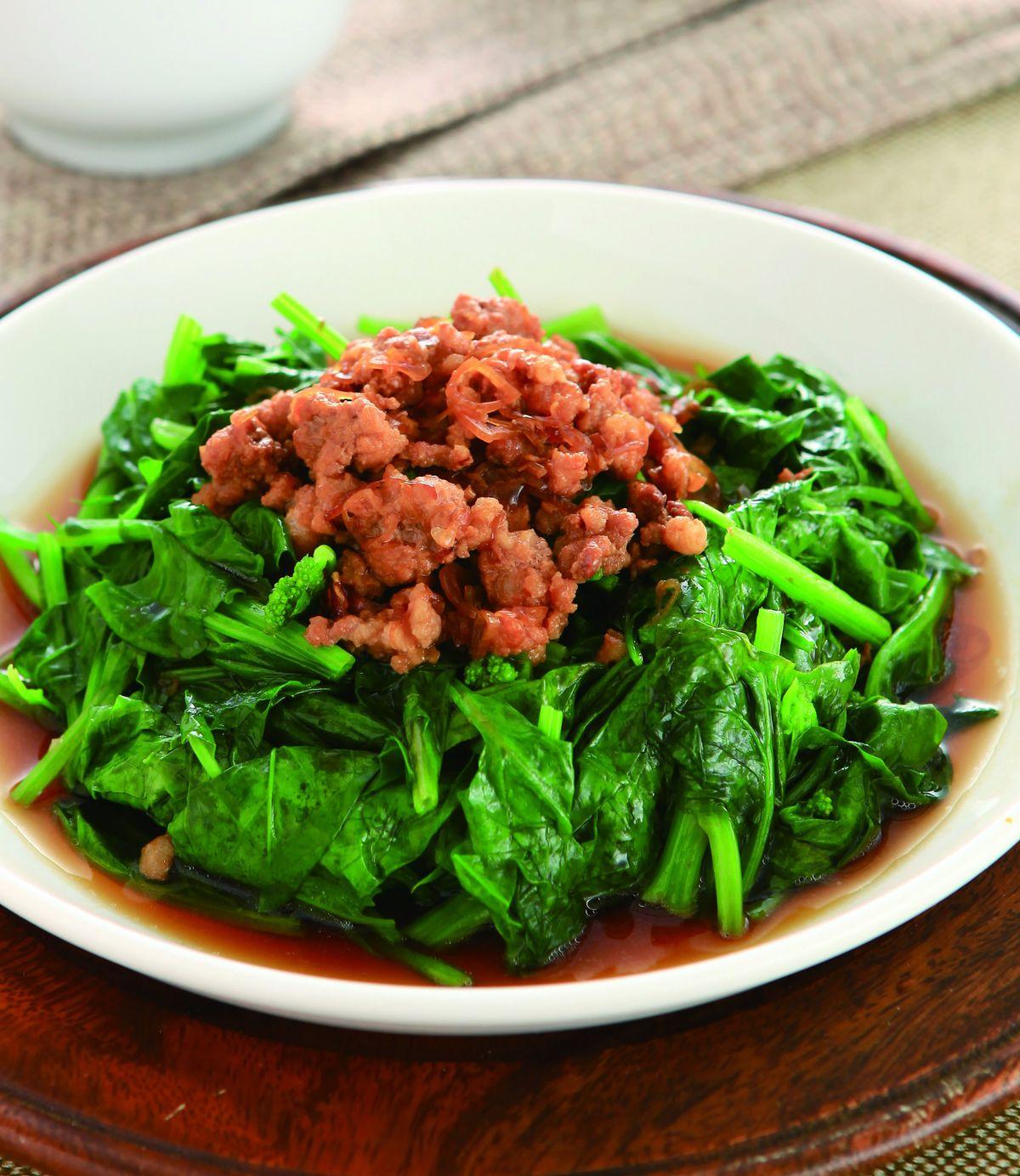 食譜:肉燥燙青菜(1)