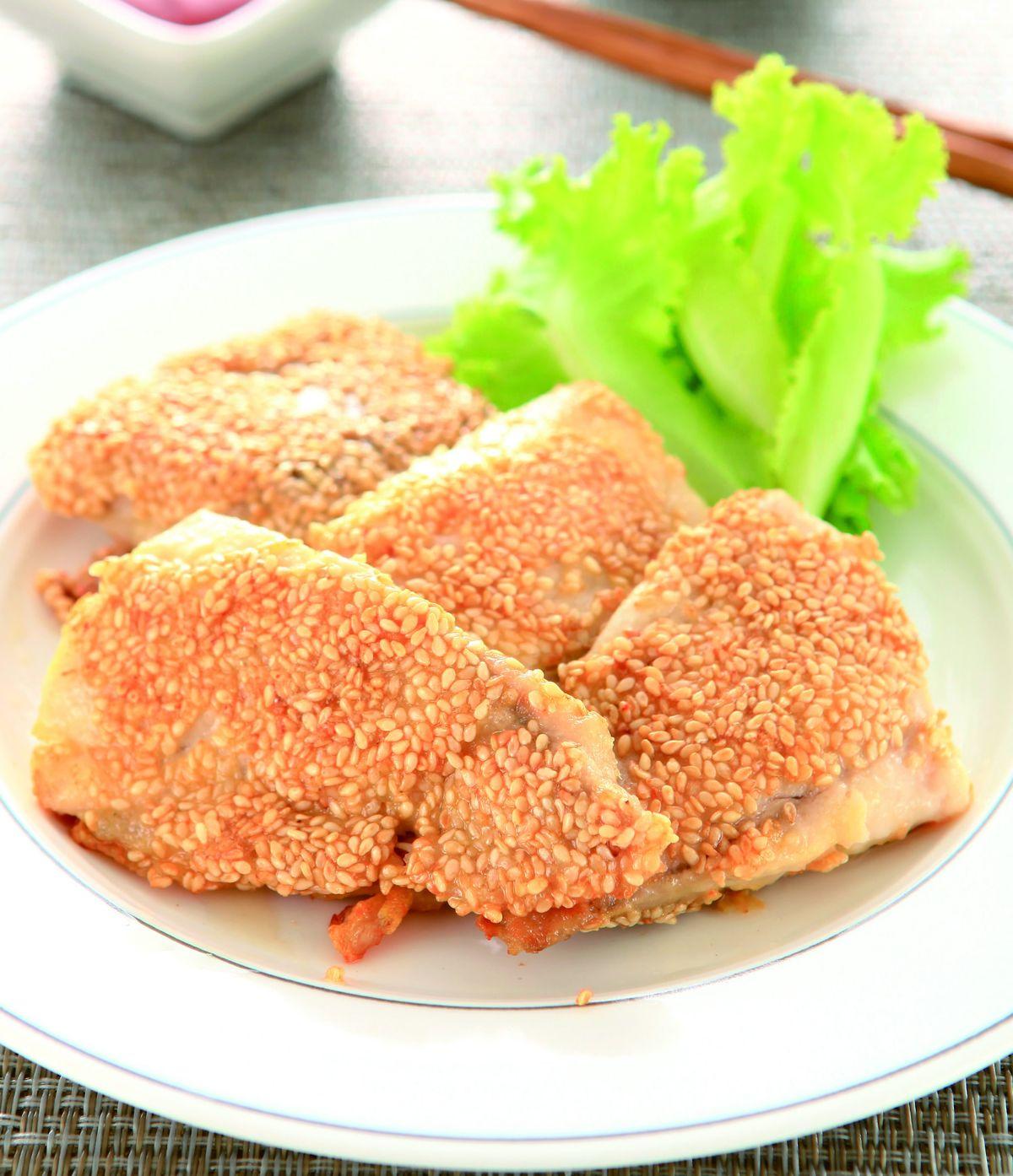 食譜:芝麻鯛魚片