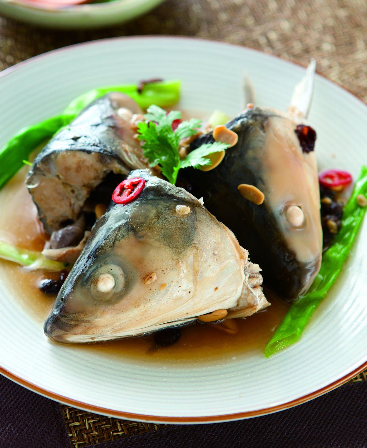 食譜:米醬蒸虱目魚頭