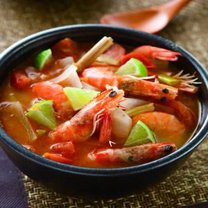 椰汁燴煮蝦