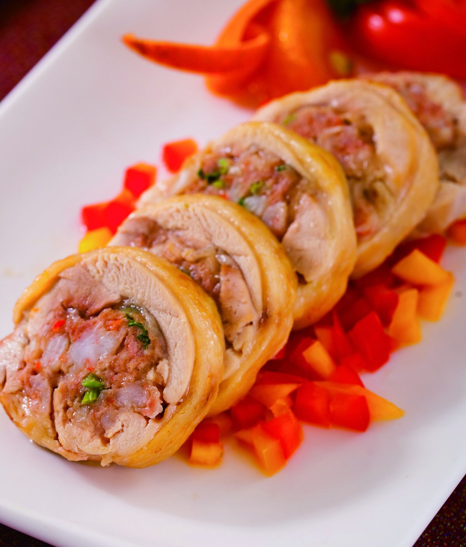 食譜:蝦漿烤雞肉捲