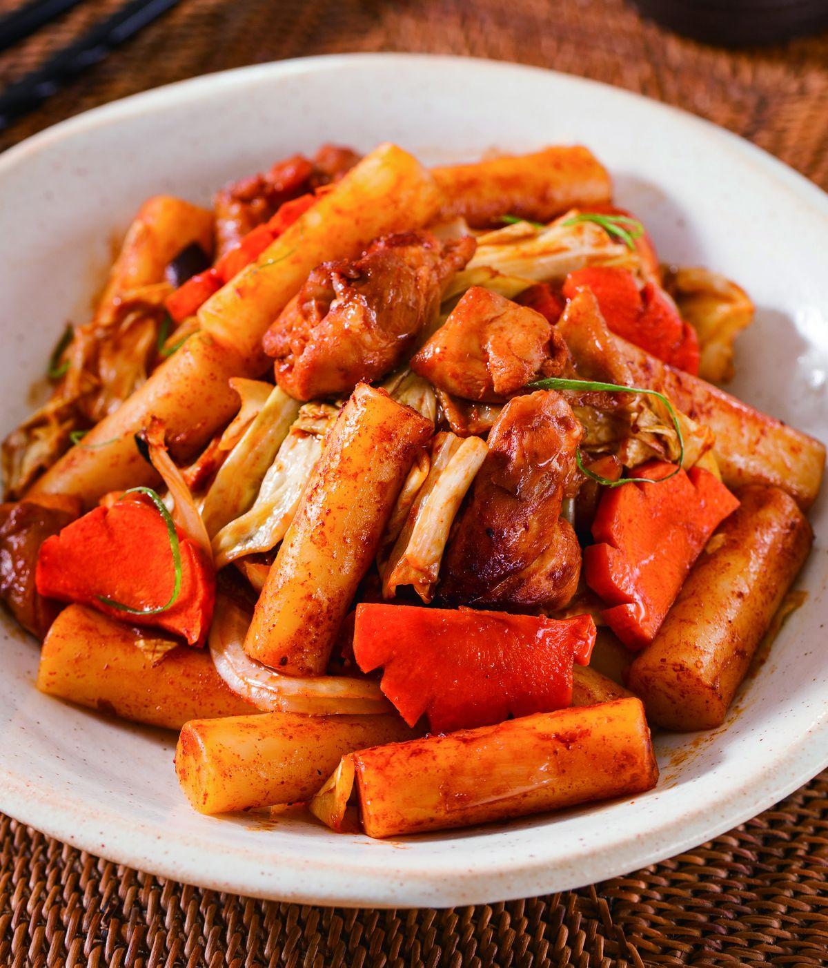 食譜:春川雞肉烤年糕