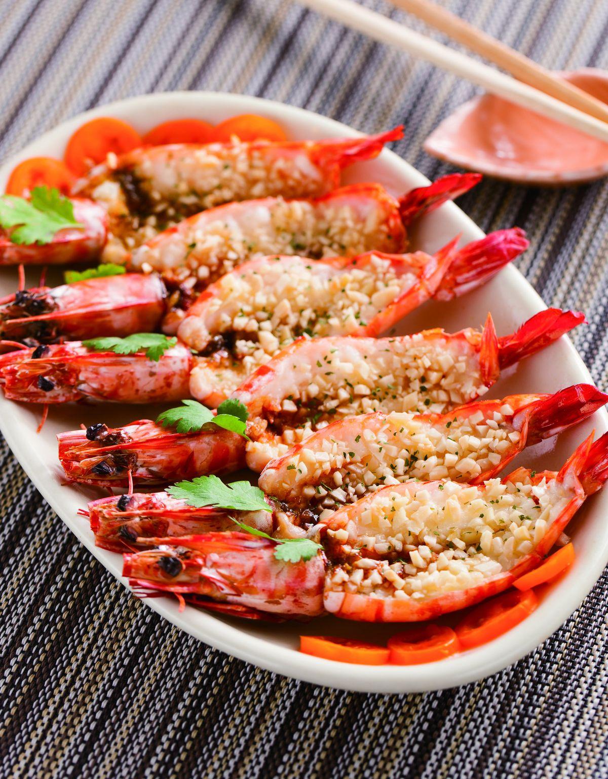 食譜:杏仁角烤蝦片