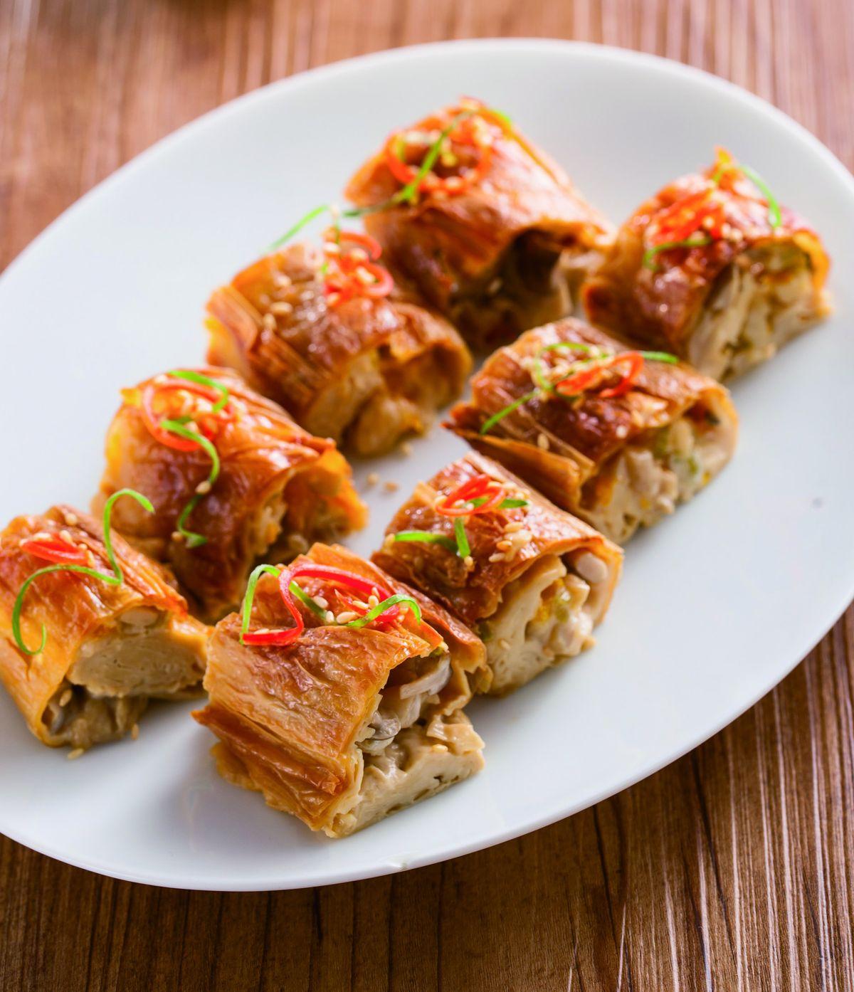 食譜:豆皮蔬菜起司卷