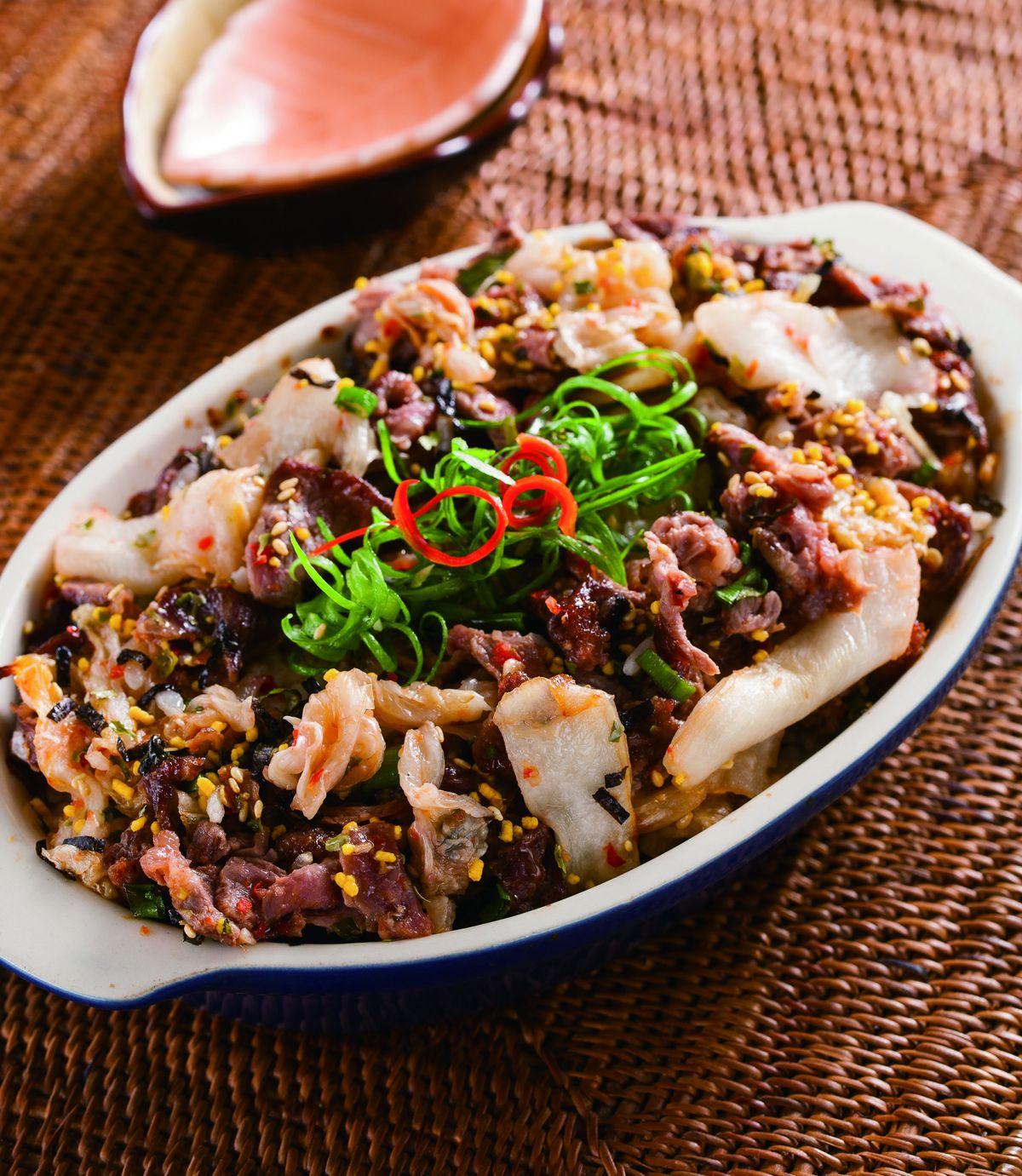 食譜:泡菜牛海苔飯