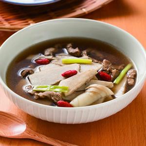 仙草筍片肉絲湯