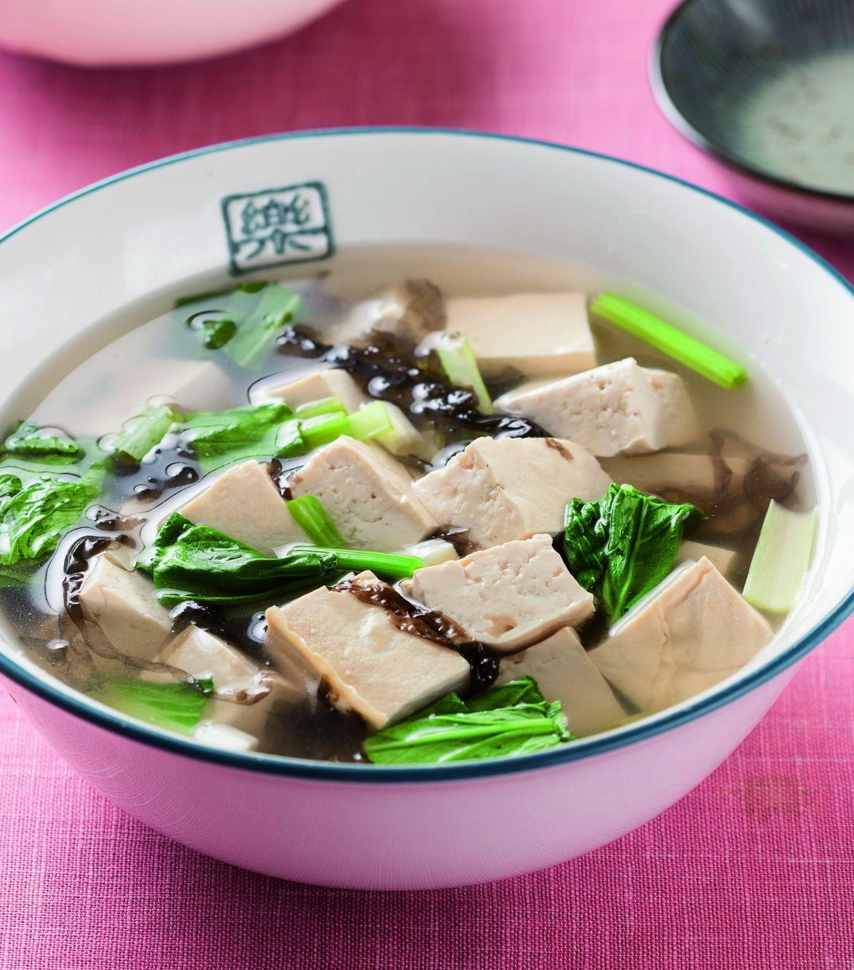 食譜:菠菜豆腐清湯