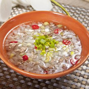 碎羊肉白玉湯