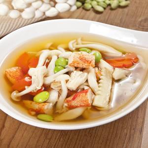 雪白菇蟹肉湯