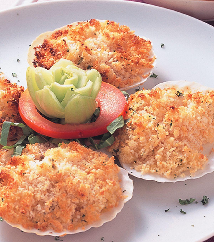 食譜:奶油扇貝