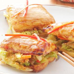 烤泡菜臭豆腐