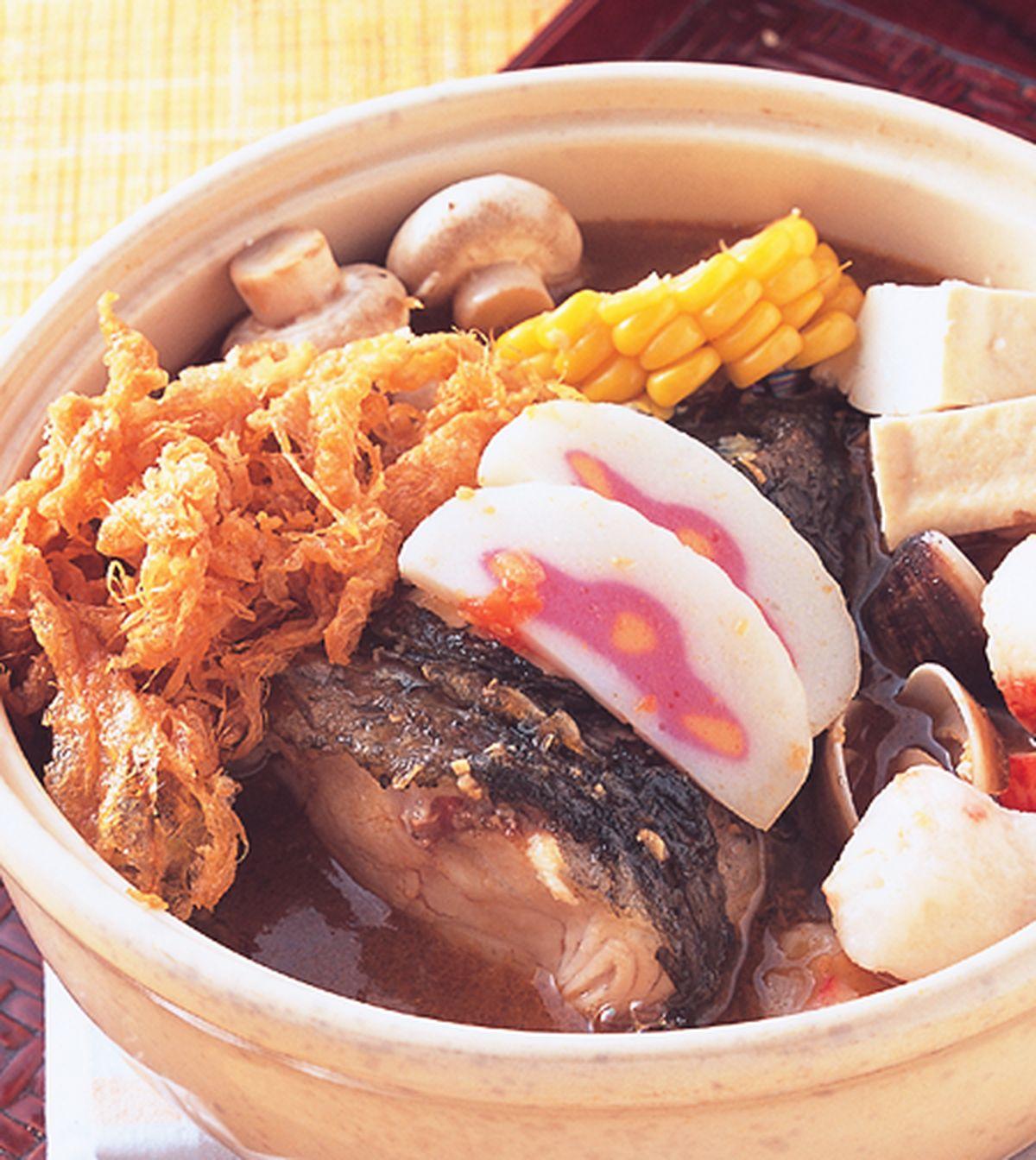 食譜:沙茶魚頭鍋(1)