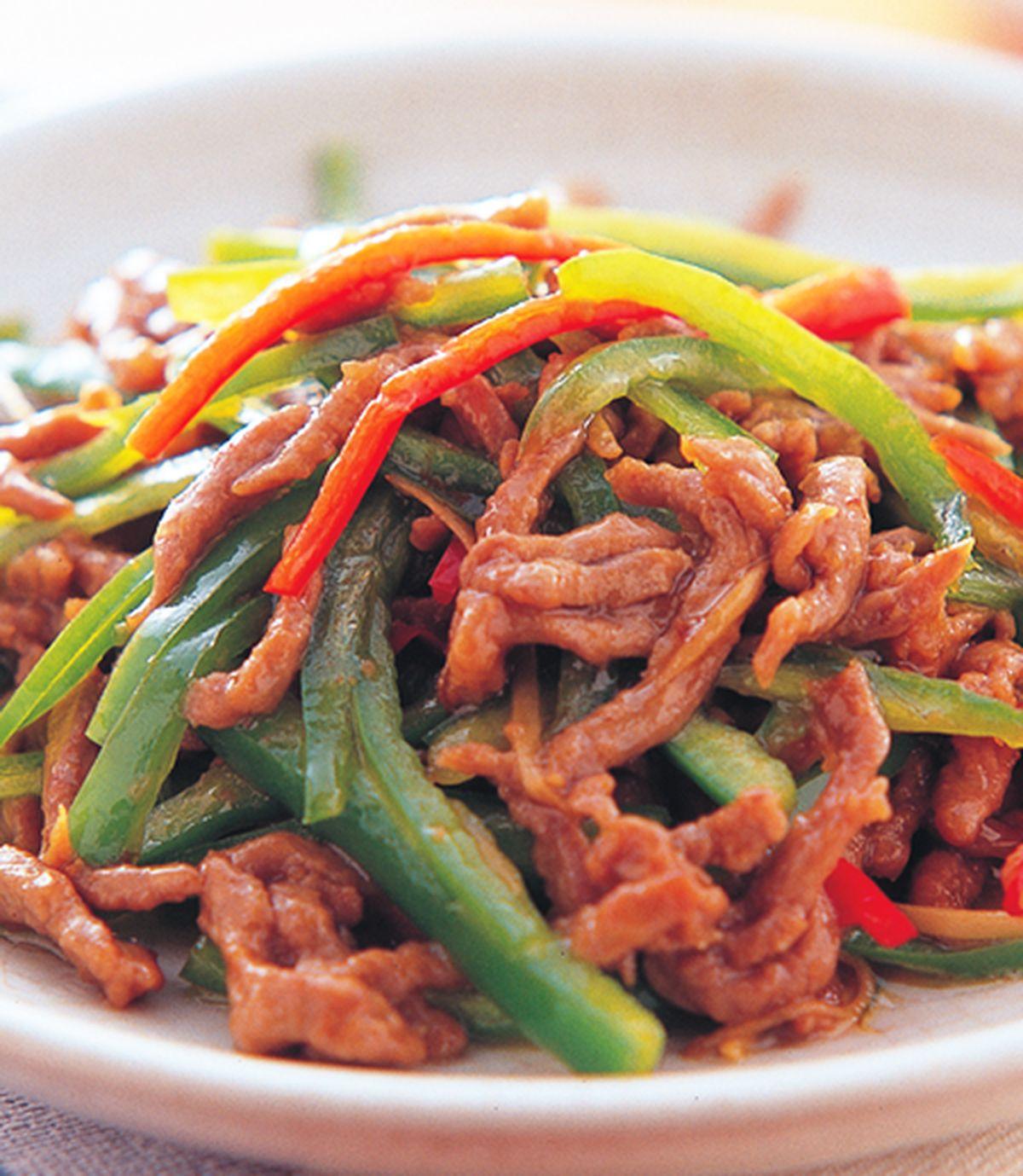 食譜:青椒牛肉絲
