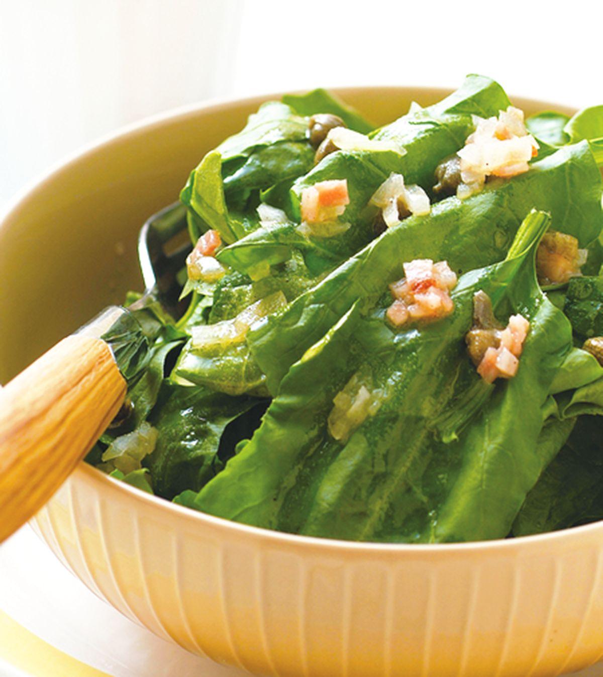 食譜:酸豆培根波菜沙拉