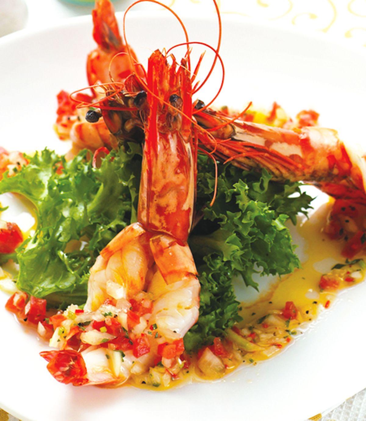食譜:鮮蝦莎莎暖沙拉