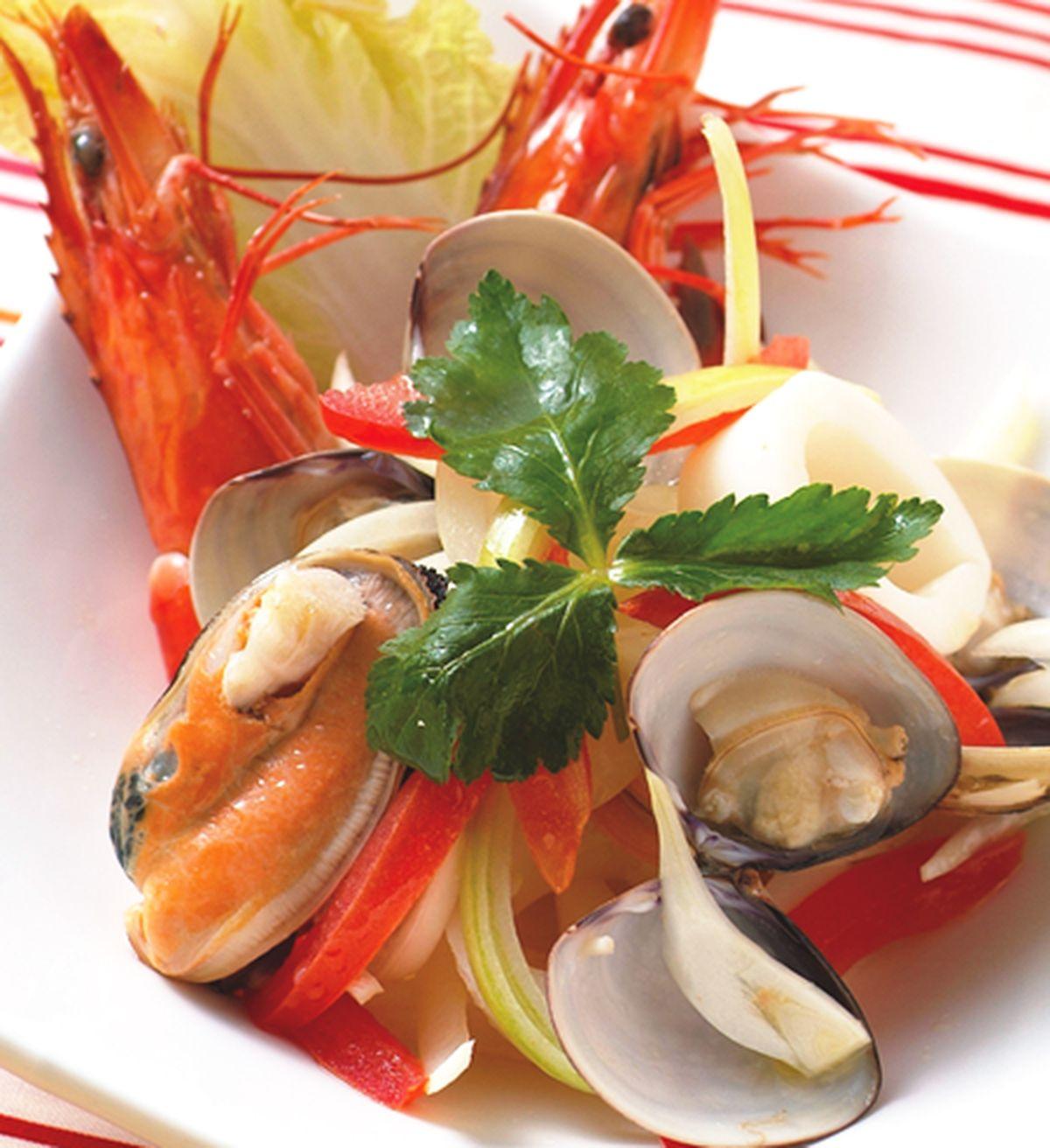 食譜:橙汁海鮮沙拉