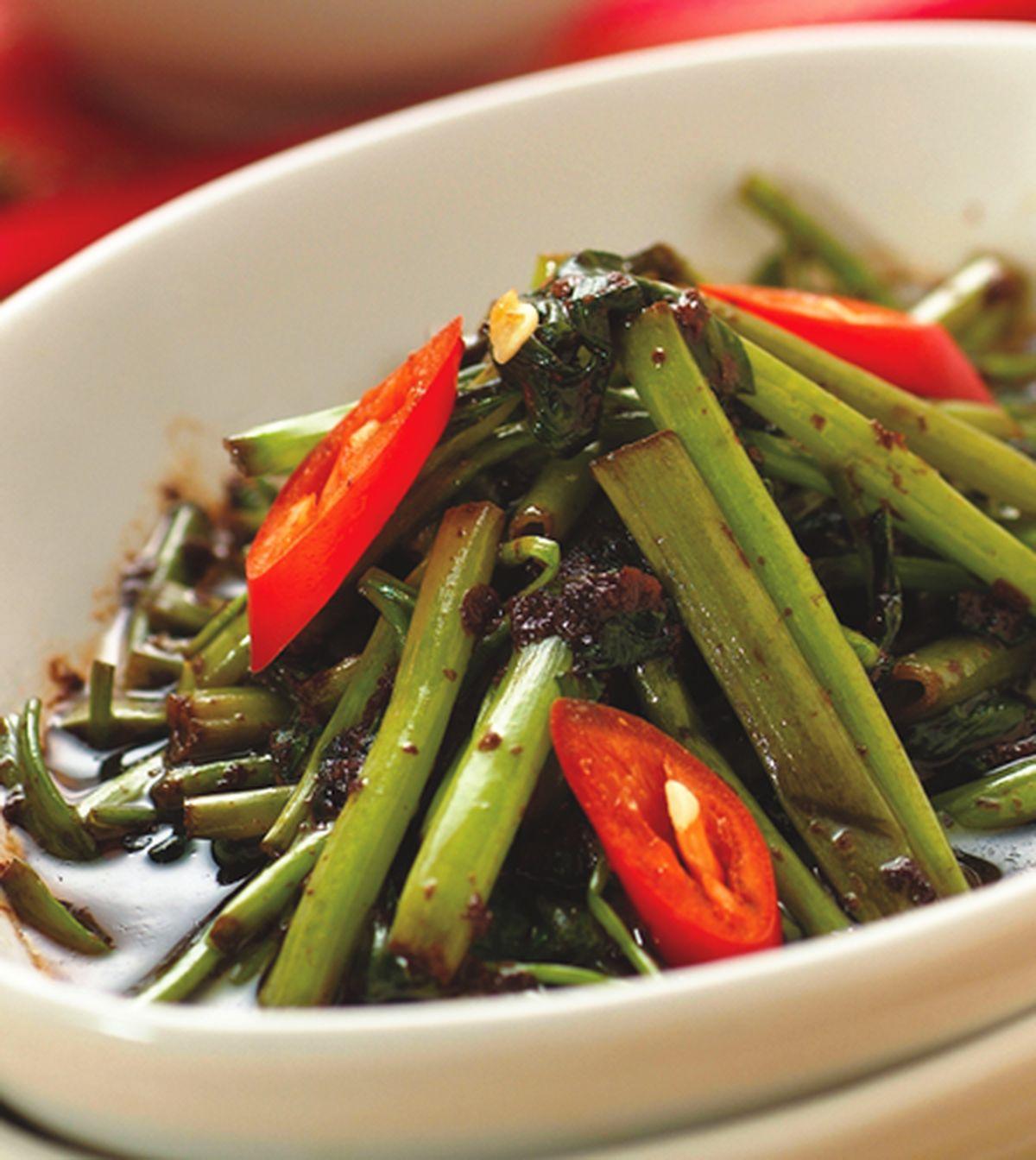 食譜:蝦醬空心菜(1)