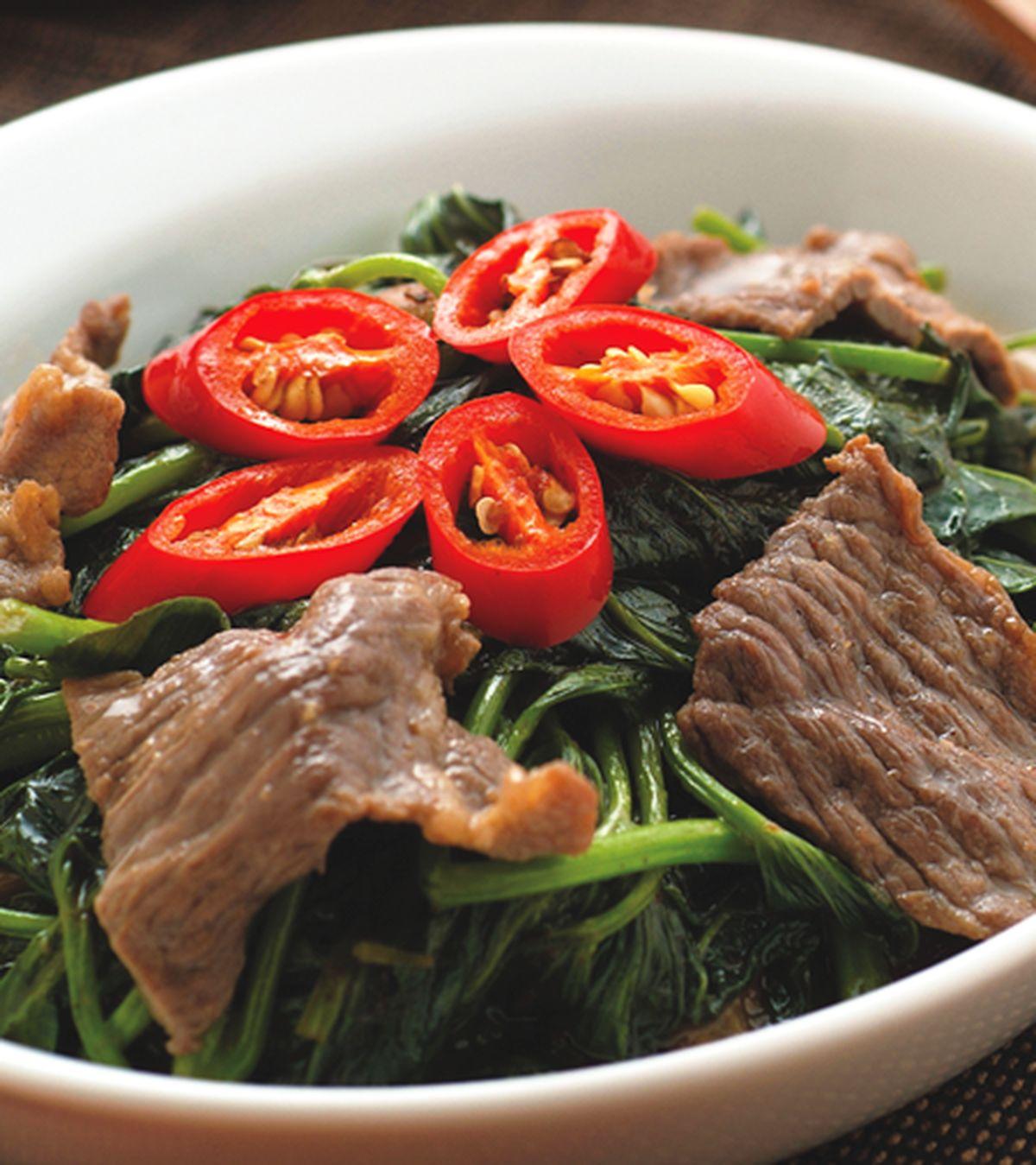 食譜:魚露牛肉地瓜葉