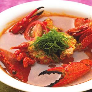 酸辣螃蟹湯