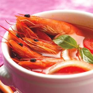 酸甜大蝦濃湯