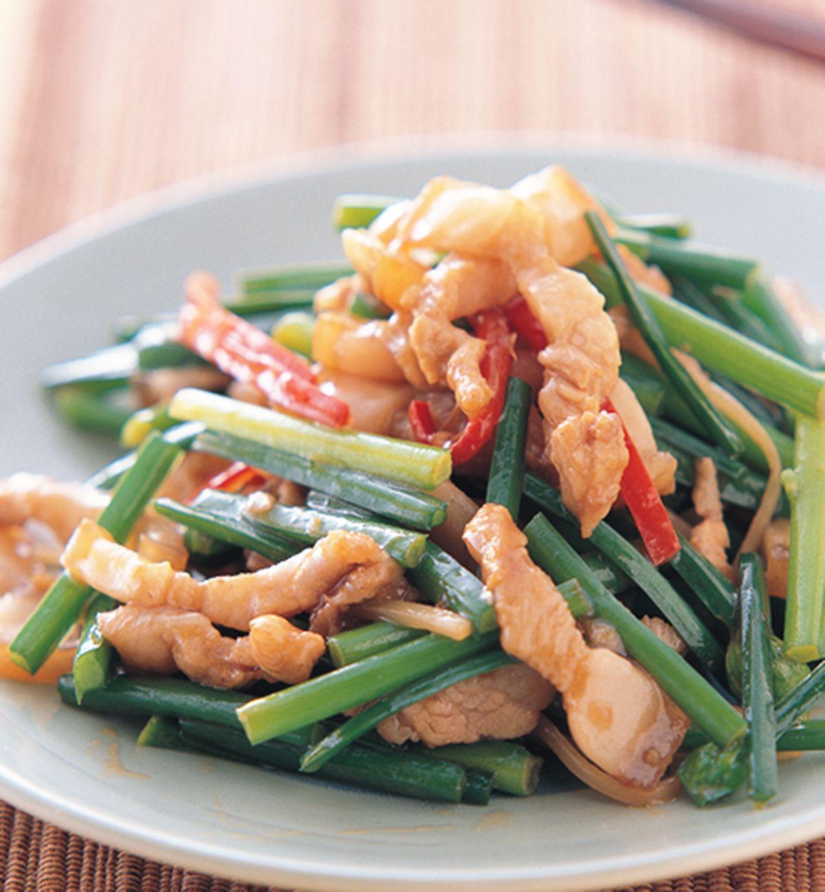 食譜:韭菜花肉條