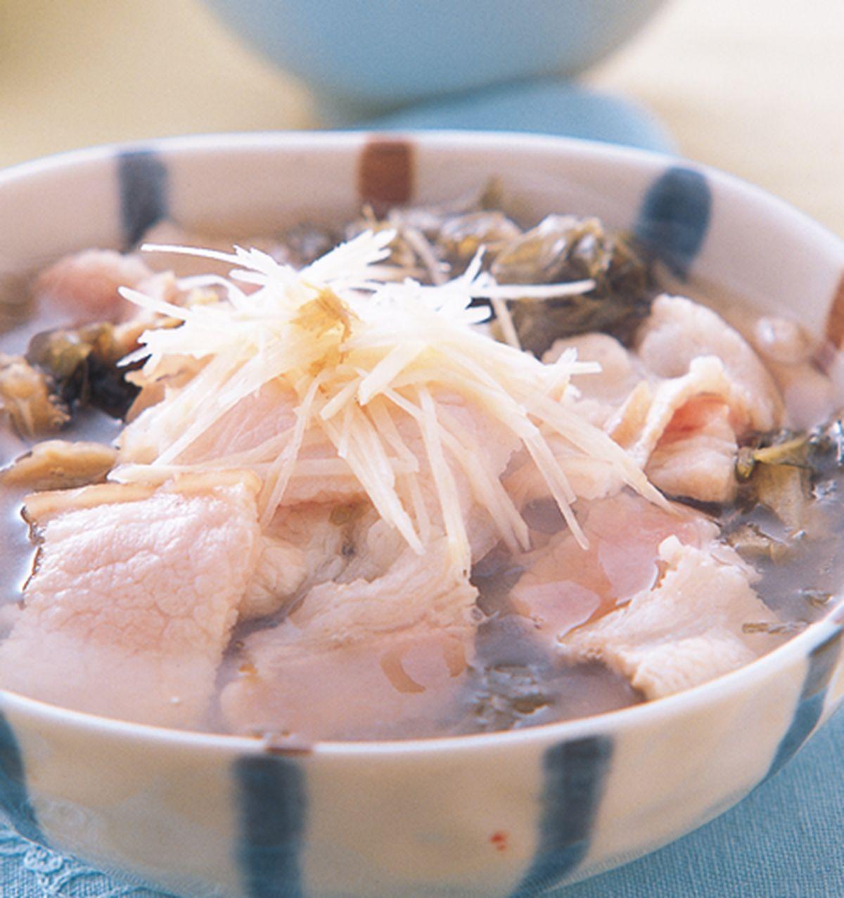 食譜:福菜肉片湯