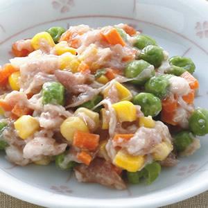 玉米青豆蒸餃