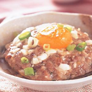 鹹蛋蒸肉餅(1)