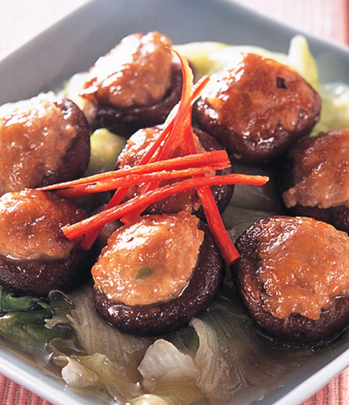 食譜:金錢菇扒生菜