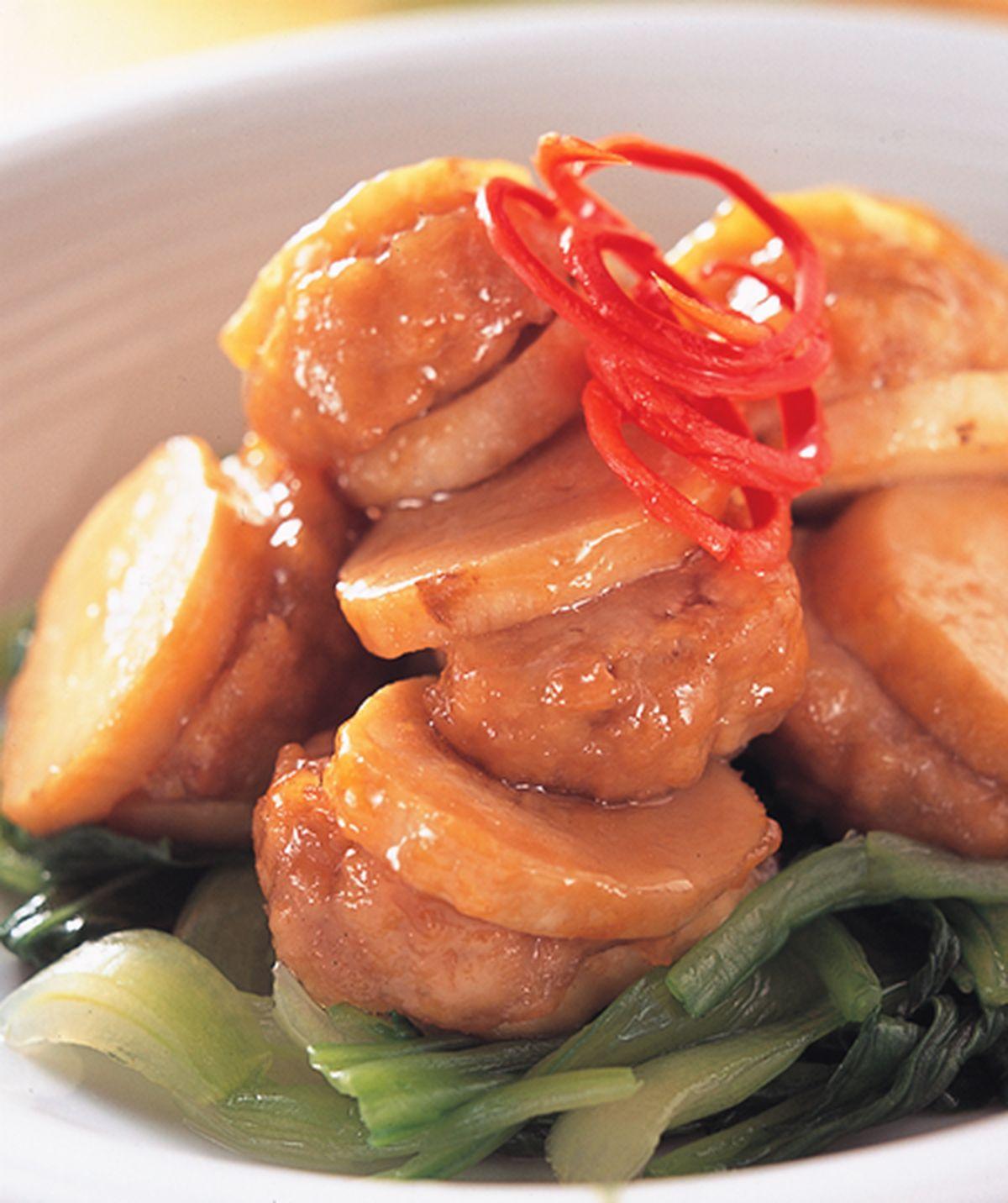 食譜:杏鮑菇燒肉