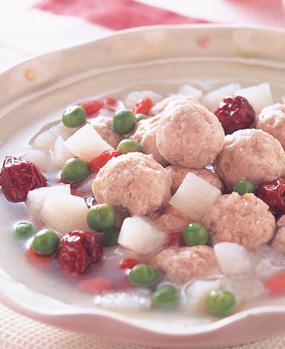 食譜:淮山枸杞燴肉丸