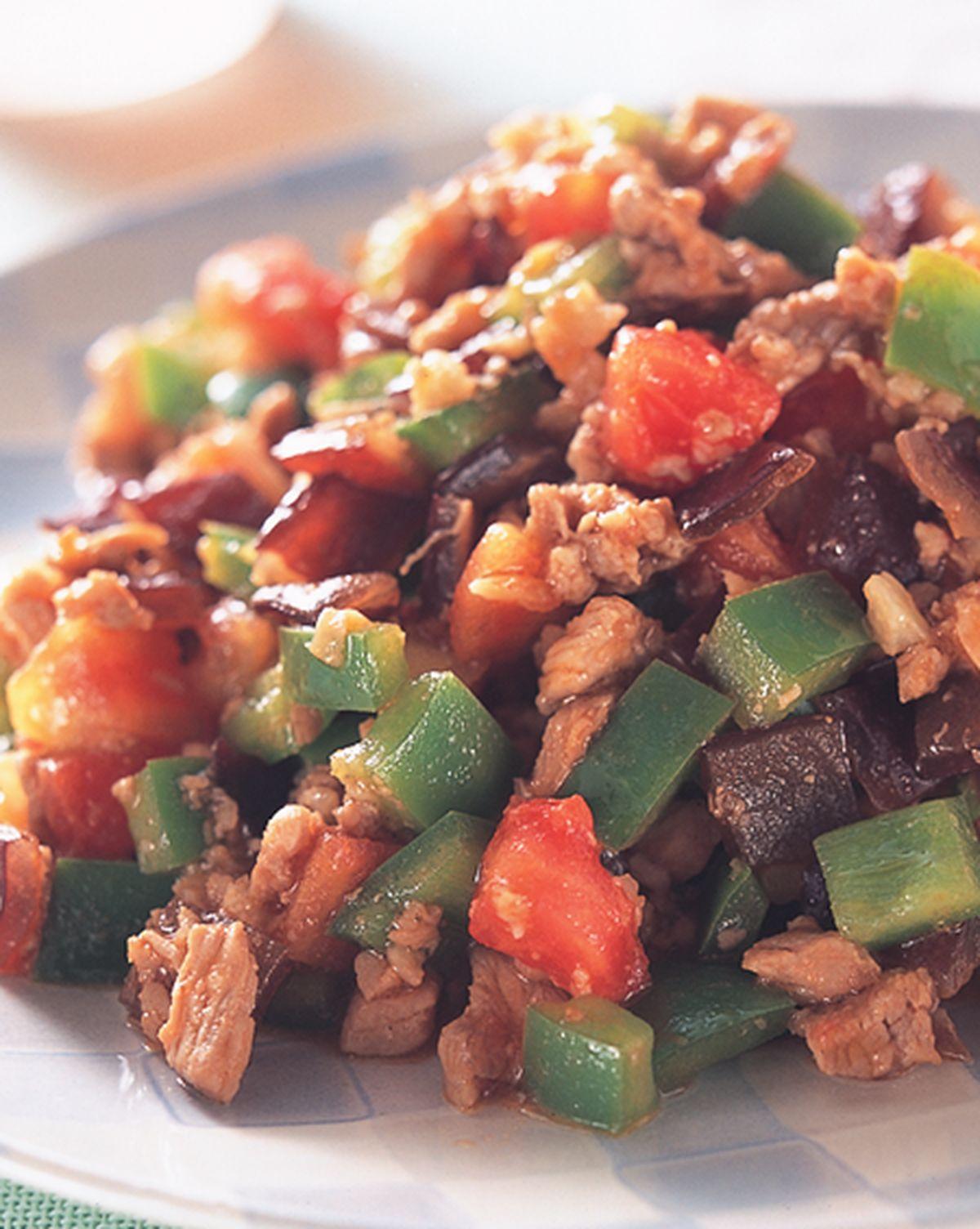 食譜:絞肉炒三丁