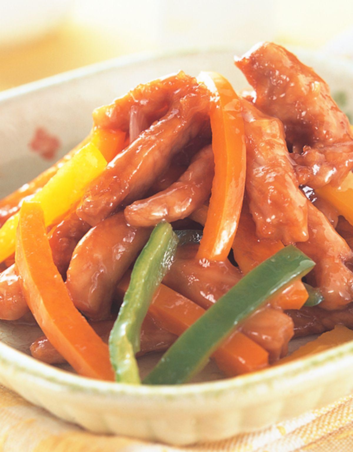 食譜:五彩豬柳