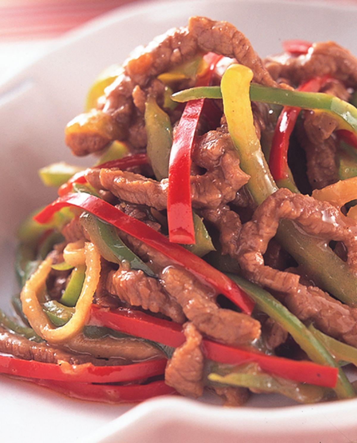 食譜:青椒牛肉絲(2)