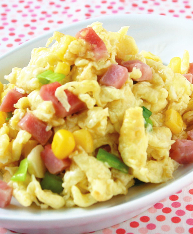 食譜:玉米火腿炒蛋