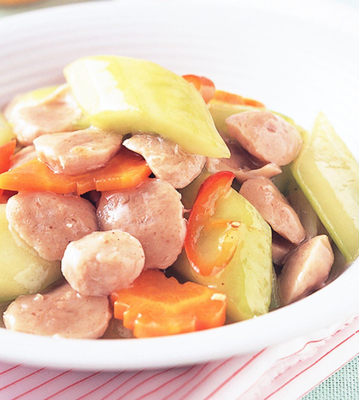 食譜:大黃瓜炒貢丸