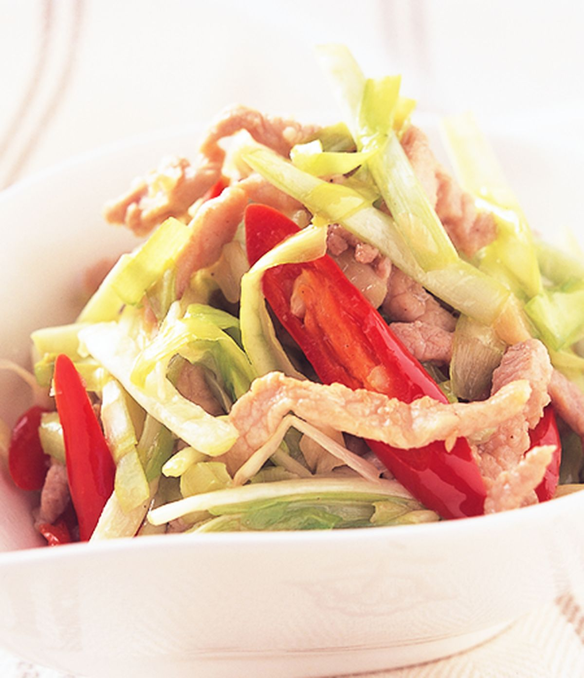 食譜:韭黃炒肉絲