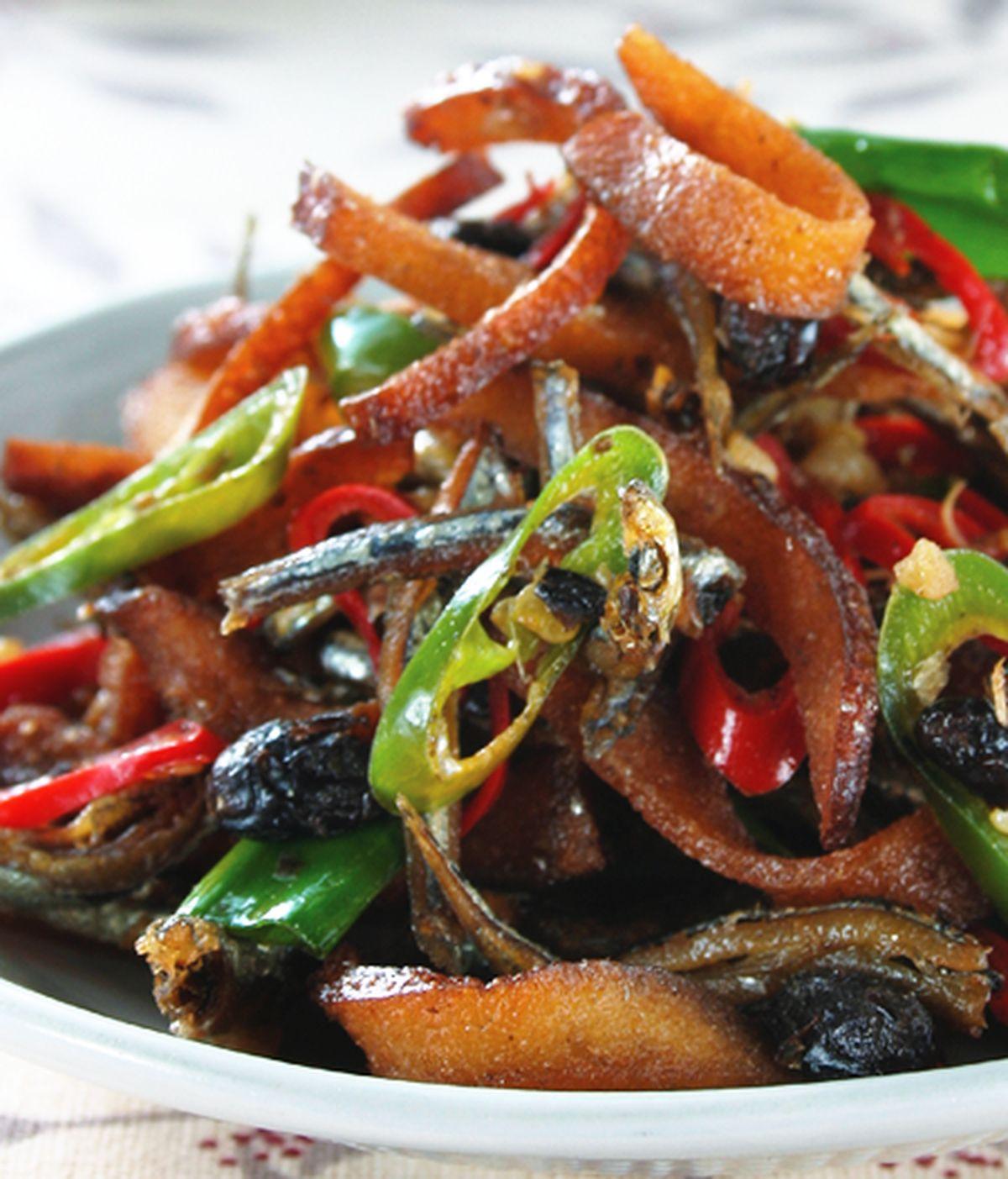 食譜:小魚干炒豆干