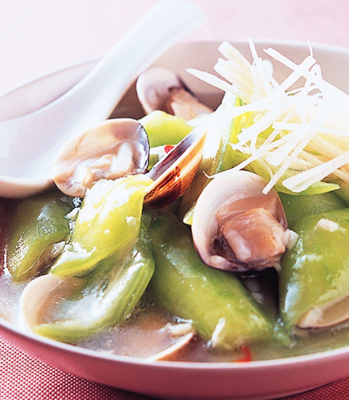 食譜:蛤蜊絲瓜(2)