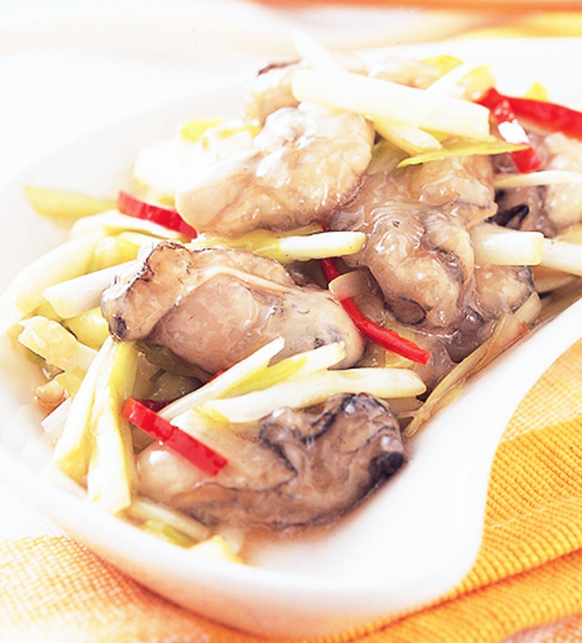 食譜:韭黃炒鮮蚵