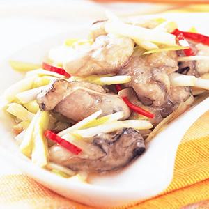 韭黃炒鮮蚵