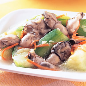 絲瓜炒鮮蚵