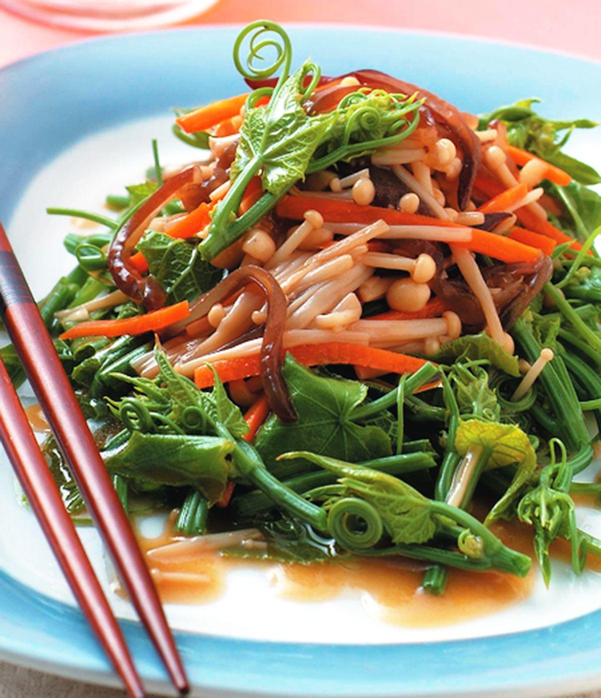 食譜:龍鬚菜拌金針菇