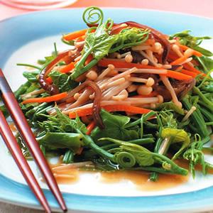 龍鬚菜拌金針菇