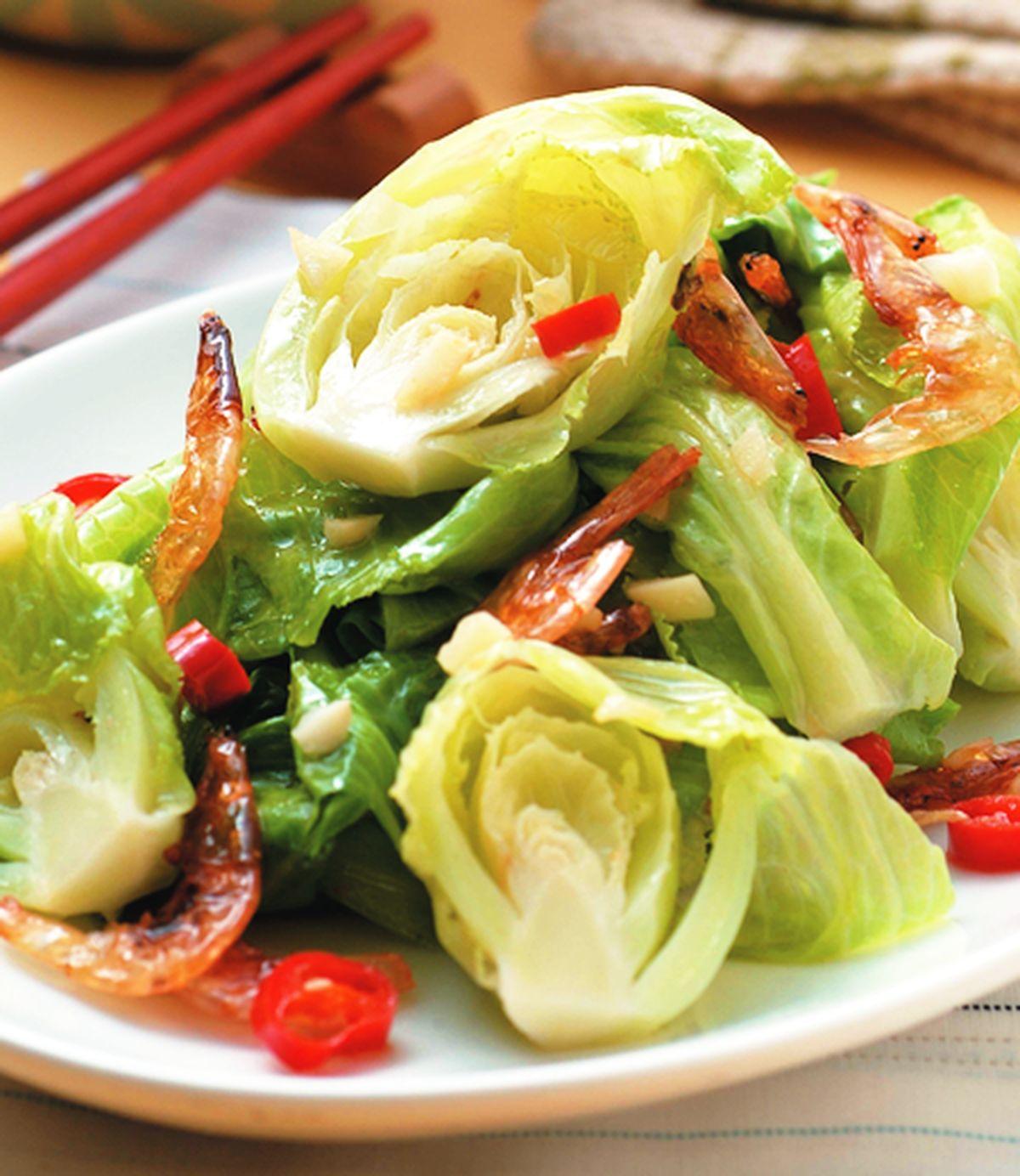 食譜:高麗菜苗炒櫻花蝦