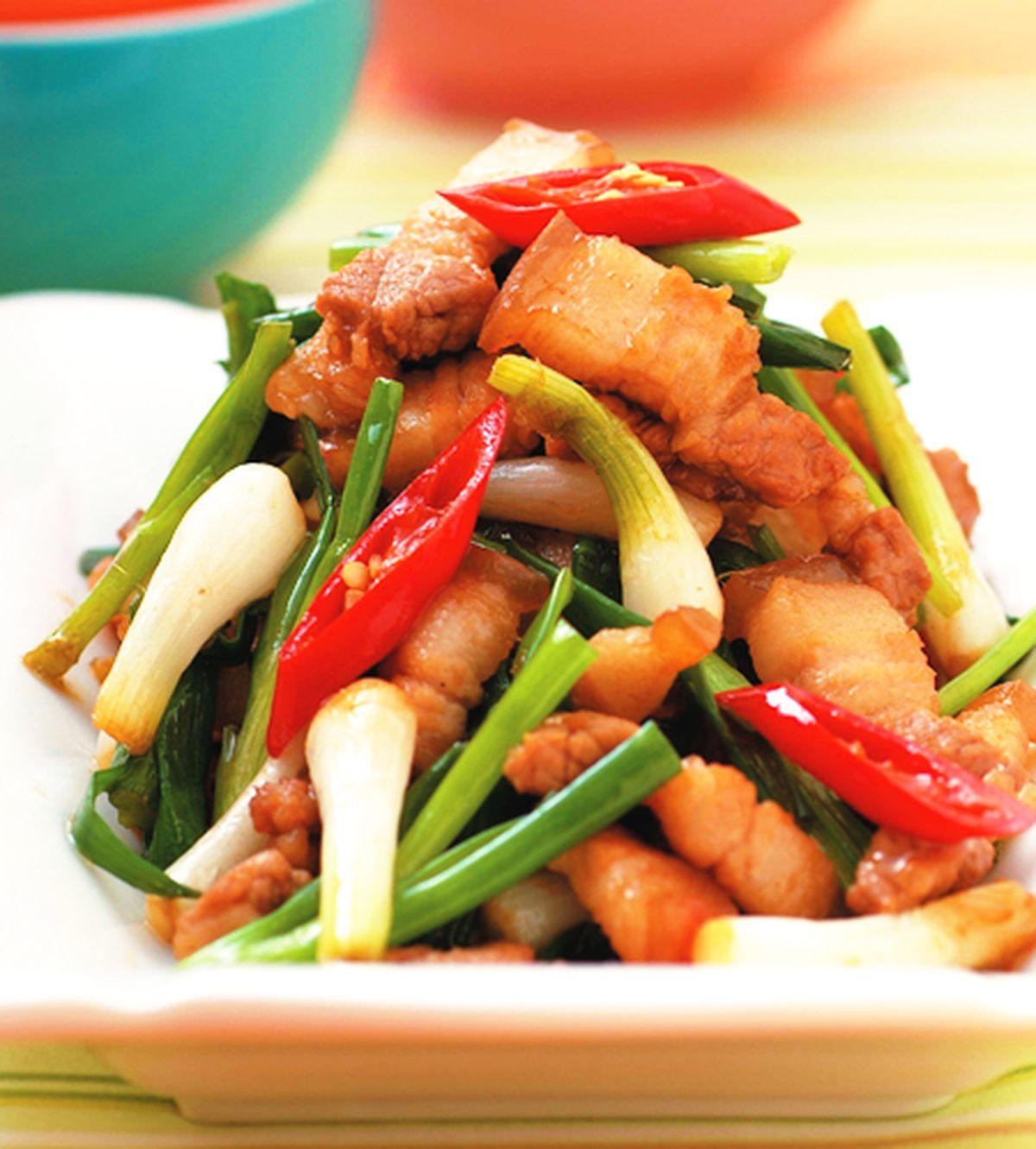 食譜:三層肉炒珠蔥