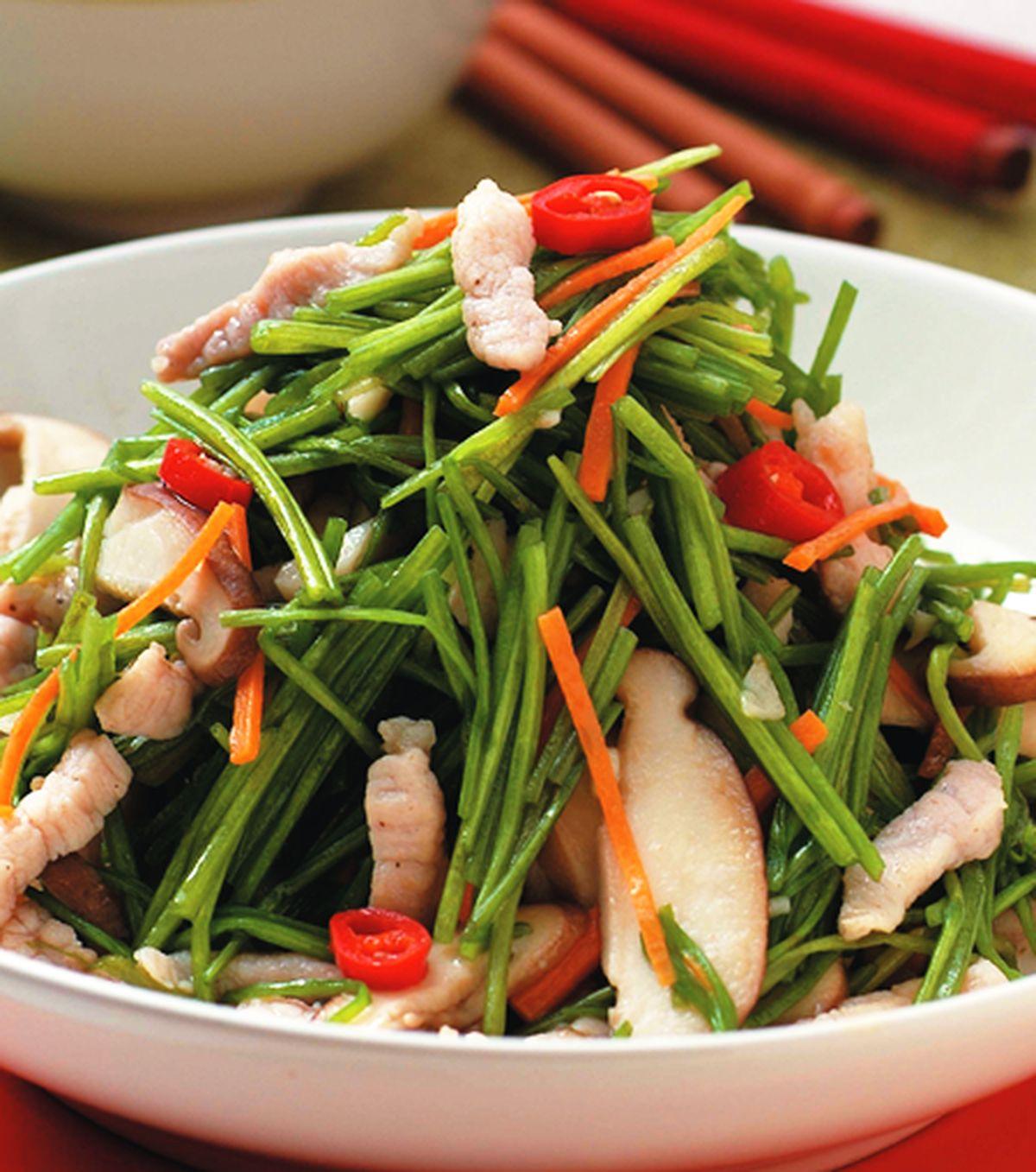 食譜:水蓮炒肉絲